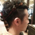 【メンズスタイル】伊勢谷友介風!すっきりとツーブロック【パーマヘア】