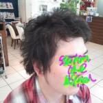 【メンズスタイル】くせ毛を生かしたショートレイヤー【ヘアカット】