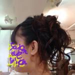 【ヘアセット】黒いドレスにぴったりのアップスタイル【アップヘア】