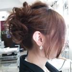 【ヘアスタイル】前髪を下してカジュアルなアップスタイル【ヘアカット】