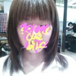 【ヘアカット】前髪軽めの直毛レイヤースタイル【セミロング】