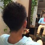 【メンズヘア】王道のさっぱり刈り上げ!くせ毛をいかしたスタイル