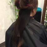 【ミセススタイル】裾の部分を重めにして毛先がまとまりやすくなるスタイル