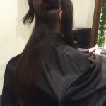 【ヘアカラー】赤味を抑えたダークブラウンで落ち着いた印象のヘア