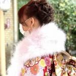 着物とヘアセット